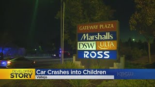 VALLEJO HIT AND RUN: Two children struck by a hit and run driver in Vallejo mall
