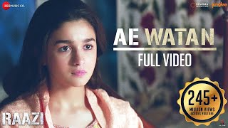 Ae Watan - Full Video | Raazi | Alia Bhatt | Sunidhi Chauhan | Shankar Ehsaan Loy | Gulzar - Download this Video in MP3, M4A, WEBM, MP4, 3GP