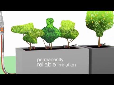 Gardena Startsett dryppvanning blomsterpotter - film på YouTube