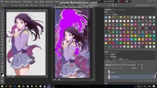 Процесс создания аватарки аниме для ВК.