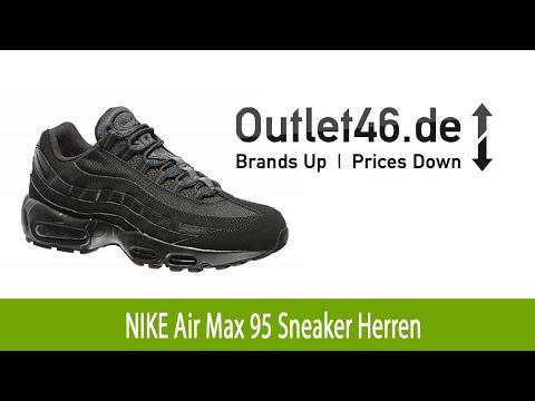 NIKE Air Max 95 Herren Sneaker online Schwarz   Outlet46.de