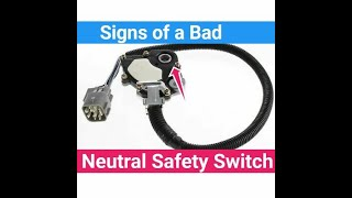 2 Signs of a Bad Neutral Safety Switch failing Symptoms No Start bypass