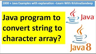 How to convert String to character array in java?