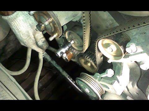 Фото к видео: Toyota Mark2 1G-FE - Замена ремня ГРМ