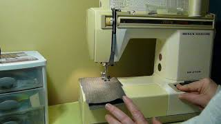 NIFTYTHRIFTYGIRL: Janome New Home SR 2100 Convertible sewing machine