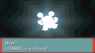 Exploud  - (Pokémon) - Pokemon Emerald Shiny Whismur Evolves To Loudred and To Exploud HD