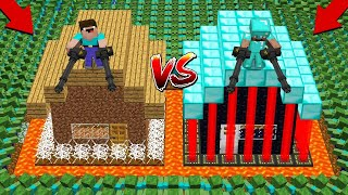 1000 ZOMBIE ARMY Vs CASTLE HOUSE! BATTLE HOUSE PROTECT! In Minecraft Noob Vs Pro