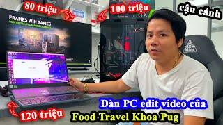 Cận Cảnh Dàn Máy Tính 300 Triệu Siêu Khủng Của Food Travel Khoa Pug Để Edit Video Và 'Đào Bitcoin'!