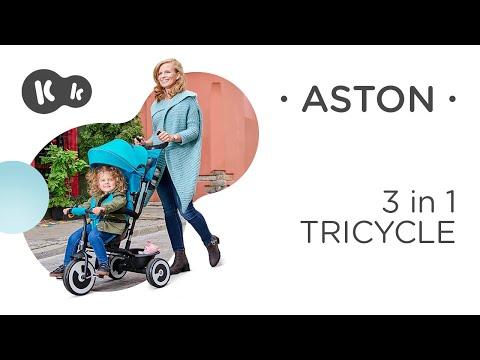 Kolmerattaline lapsevanker Kinderkraft ASTON, roosa hind ja info | Laste jalgrattad | kaup24.ee