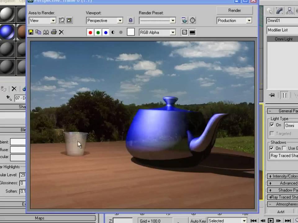 3ds Max Tutorials - Beginner (6) Using ProBoolean to Create a Glass