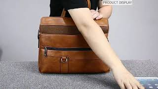 JEEP BULUO, Mens Briefcase, High Quality Bag, Business, Famous Brand, Leather Crossbody Bag, Office