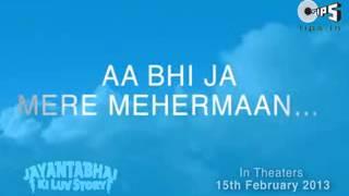 Aa Bhi Ja Mere Mehermaan   Atif Aslam Lyrics Video   Jayantabhai Ki Luv Story