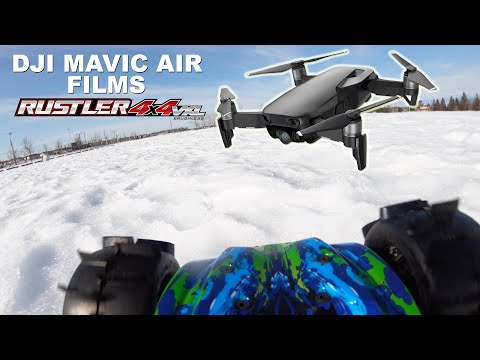 dji-mavic-air-films-the-traxxas-rustler-4x4-vxl-and-we-almost-have-a-collision