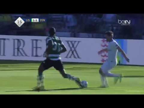Sporting Lisbon vs Zenit St. Petersburg 4 - 2 !!! 2016 All goal highlight HD видео