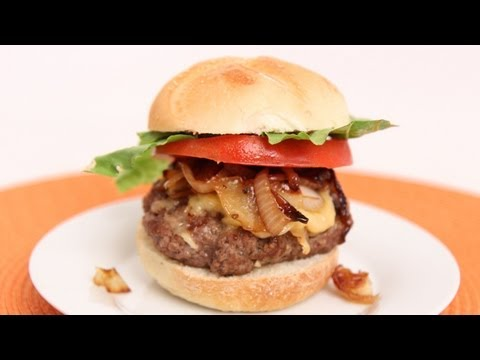 Caramelized Onion Burger Recipe – Laura Vitale – Laura in the Kitchen Episode 632