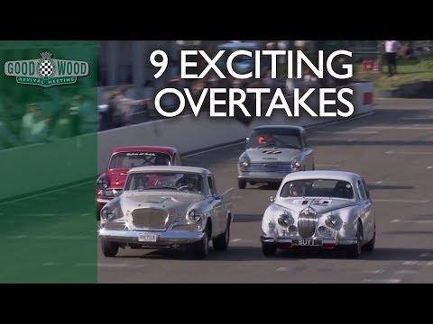 Nine intense touring car overtakes