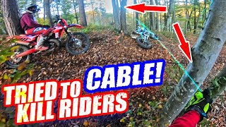 Angry Man Try To Kill Dirt Bikers - Death Wire Trap 2019