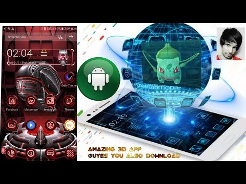 How To Download 3D App for Android neon skull 3D theme