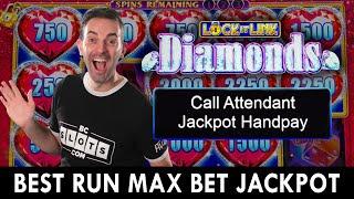 BEST RUN Max Bet JACKPOT 🔷 Lock It Link DIAMONDS at Agua Caliente