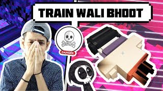 MINECRAFT TRAIN GHOST HORROR MAP 👹🚂  || FUNNY HINDI MINECRAFT PE  GAMEPLAY