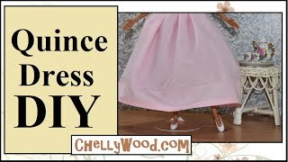 Free Doll Clothes Patterns: Quinceañera Dress For Barbie And Other Fashion Dolls