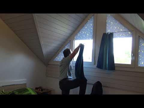 Vorhang für Dreieckfenster