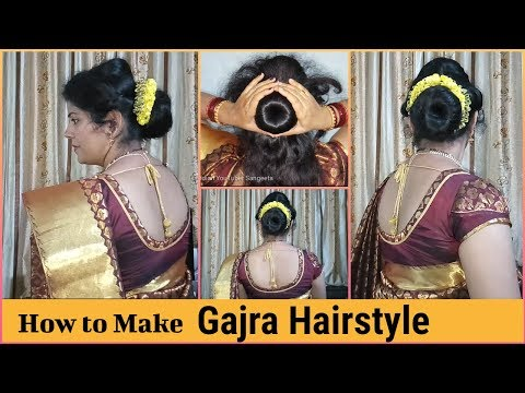 How To Make A Gajra Hairstyle Gajra Hairstyle On Saree For