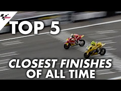 Top 5 closest finishes in MotoGP™️!