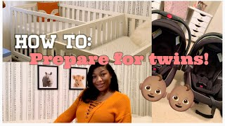 PREPARING FOR TWINS ! | TIPS ON PREPARING FOR YOUR BABIES ARRIVAL | ERICA SYMONE