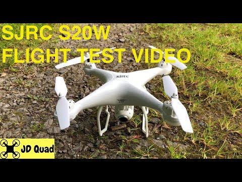 SJRC S20W Flight Test Video - Courtesy of Banggood