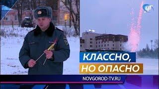 Сотрудники МЧС напомнили новгородцам правила пользования пиротехникой