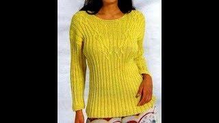 Пуловер Резинка Спицами - 2019 / Pullover Rubber Spitz