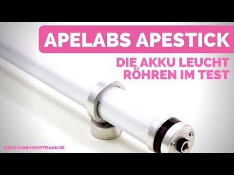 Apelabs Apestick Review | Die Leuchtröhren im Test | Unboxing der Akku Floorspots