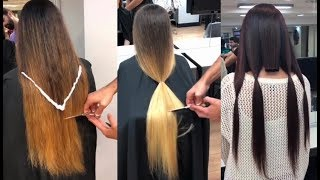 Increíbles Cortes de Cabello largo a Corto / Best Haircuts Transformation 2018