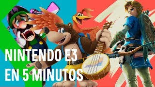 NINTENDO DIRECT E3 2019 en MENOS de 5 MINUTOS: TLOZ Breath Of The Wild 2, BANJO en SMASH y más