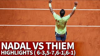Roland Garros | Nadal Vs. Thiem Highlights (6-3,5-7,6-1,6-1) | Diario AS