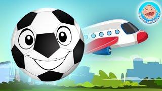 Футбик веселый мячик — Перепутали Самолеты — Играем в Учим Силуэты