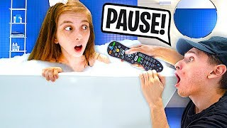PAUSE CHALLENGE With GIRLFRIEND For 24 HOURS!
