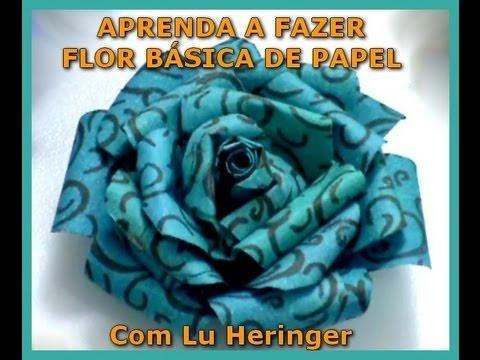 Flor de Papel Básica