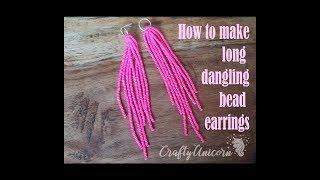 How To Make Long Dangling Bead Earrings. Earring Making Masterclass.
