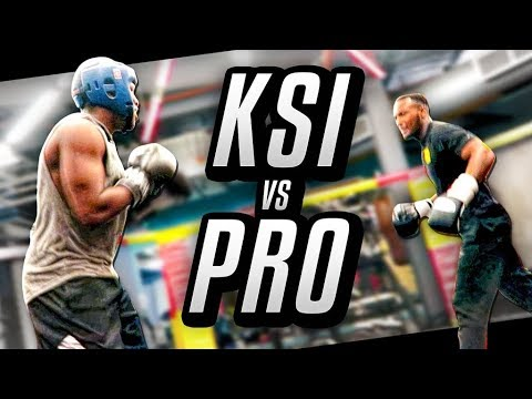 FIGHTING A PRO BOXER