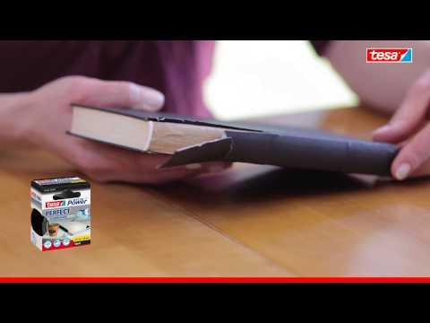 tesa extra Power Perfect Gewebeband - ideal zum Reparieren von Buchrücken