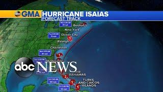 Isaias now a hurricane, heads toward Bahamas and US East Coast l GMA