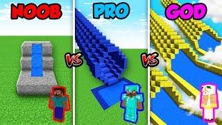 Minecraft NOOB vs. PRO vs. GOD: SLIDE CHALLENGE in Minecraft! (Animation)