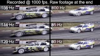 Games 166Hz vs 144Hz vs 120Hz vs 100Hz vs 85Hz vs 60Hz Monitor refresh rates