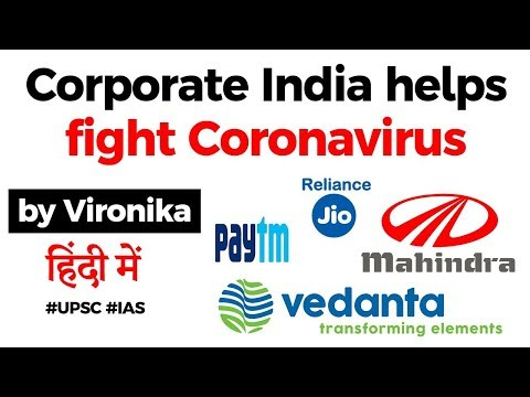India Fights Coronavirus, How corporate India is helping tackle virus outbreak, Current Affairs 2020