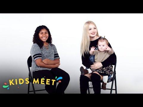 12 Year Old Girl Meets a Teen Mom | Kids Meet | HiHo Kids