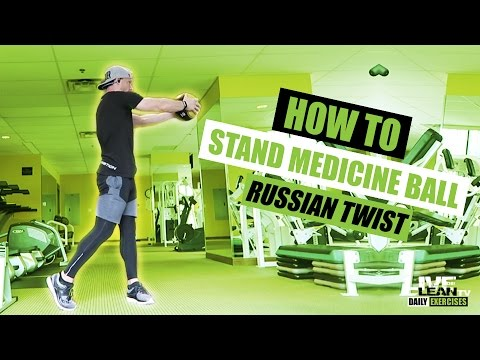 How To Do A STANDING MEDICINE BALL RUSSIAN TWIST | Exercise Demonstration Video and Guide