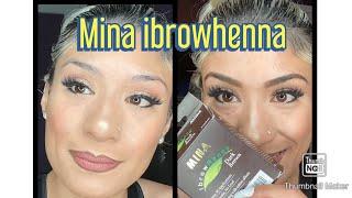 Mina Ibrow Henna DARK BROWN (detailed Tutorial)