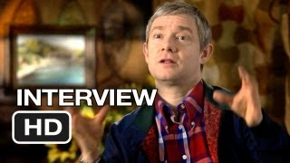 The Hobbit: An Unexpected Journey Martin Freeman Interview - Bilbo (2012) HD